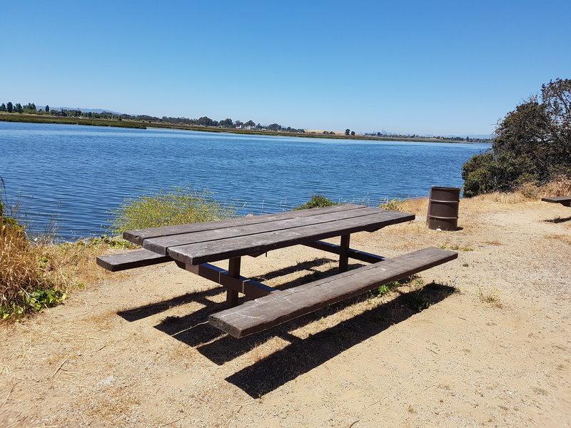 Plenty of picnic spots along the trail