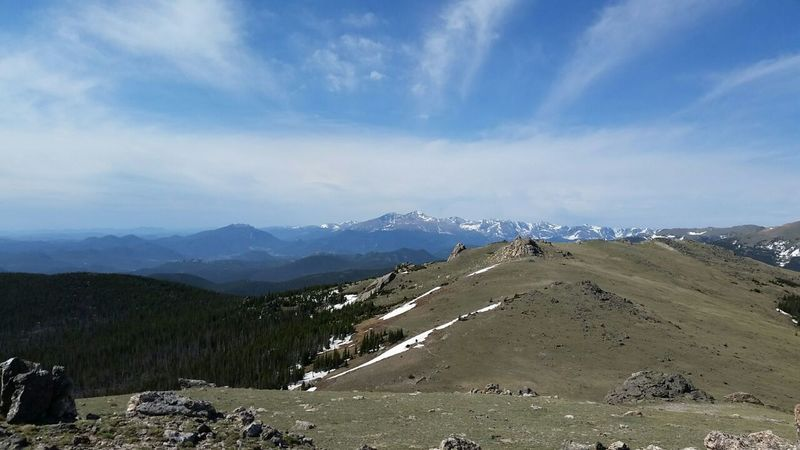 At the top of Signal Mountain with a spectacular view of Meeker & Longs to the south