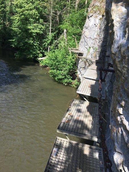 Hornad river footsteps