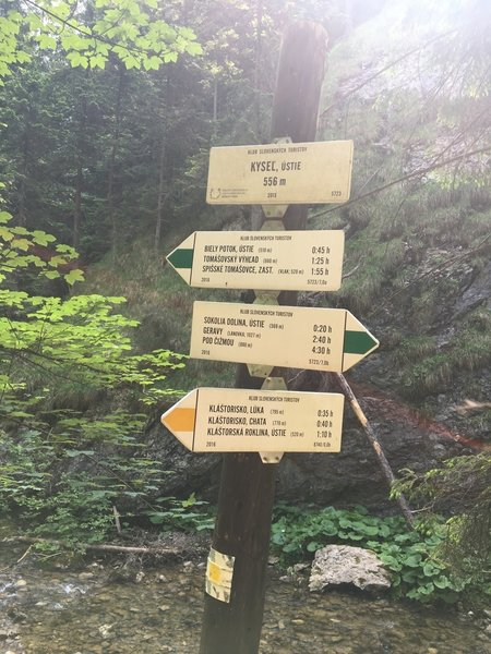 Excellent trail marking