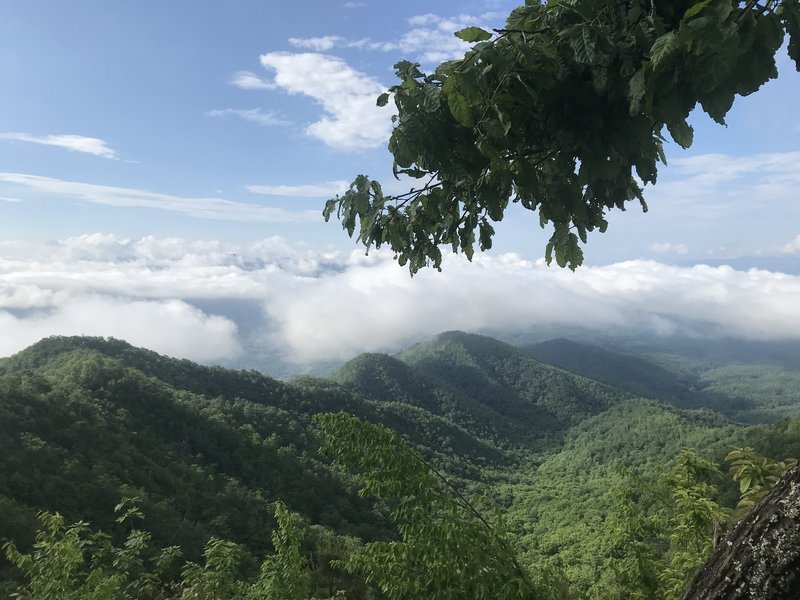 Lonesome Pine Overlook - quick short side trail from Noland Divide. Looking towards Bryson City. This would be a good day hike if staying in BC.