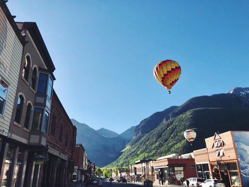 Telluride hot air balloon festival!