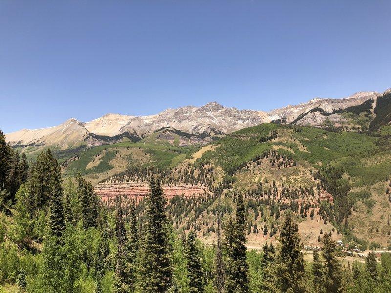 View from the free gondola to Mountain Village