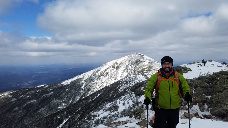 A look back across the Franconia Ridge Trail looking at Lafayette