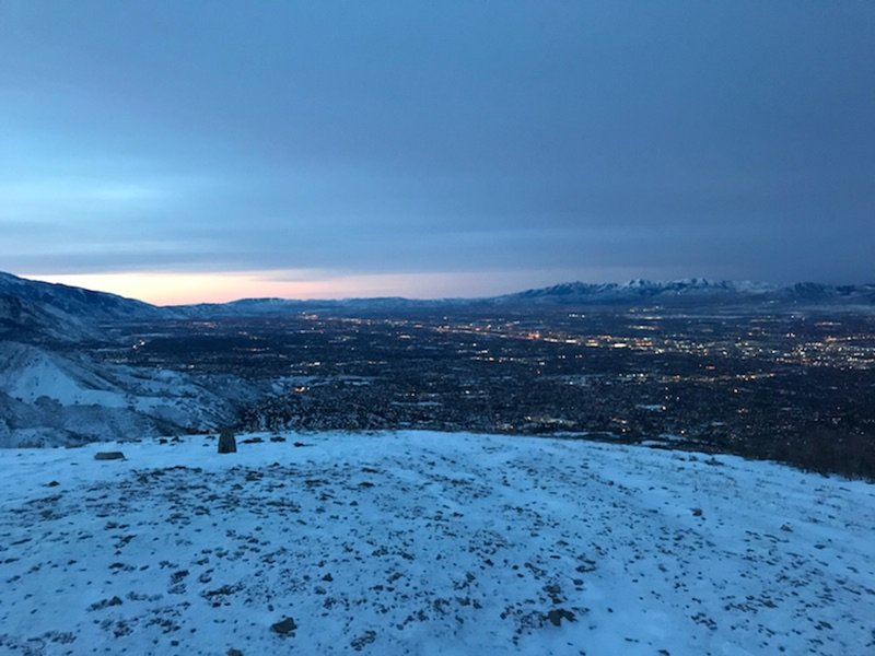Early morning view of the Salt Lake Valley from Mount Wire