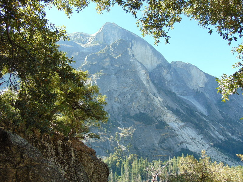 Half Dome across Tenaya Canyon from the switchbacks.