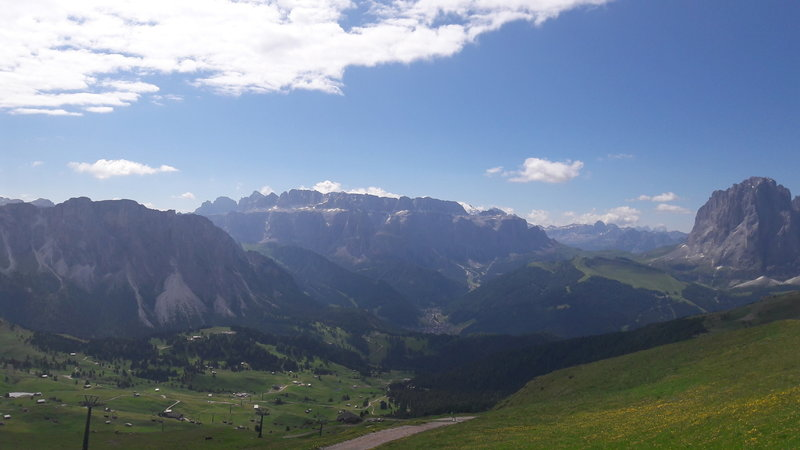 val Gardena and Alpe di Siusi from Odle