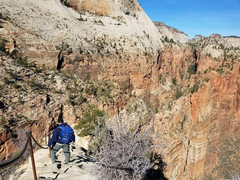angels landing descent, Zion NP