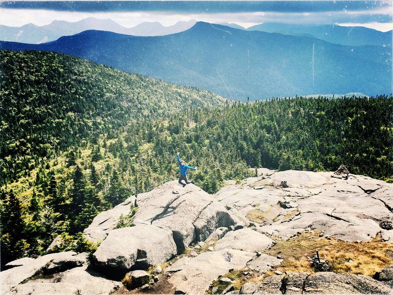 Nathan Palmisano near the summit of Cascade.