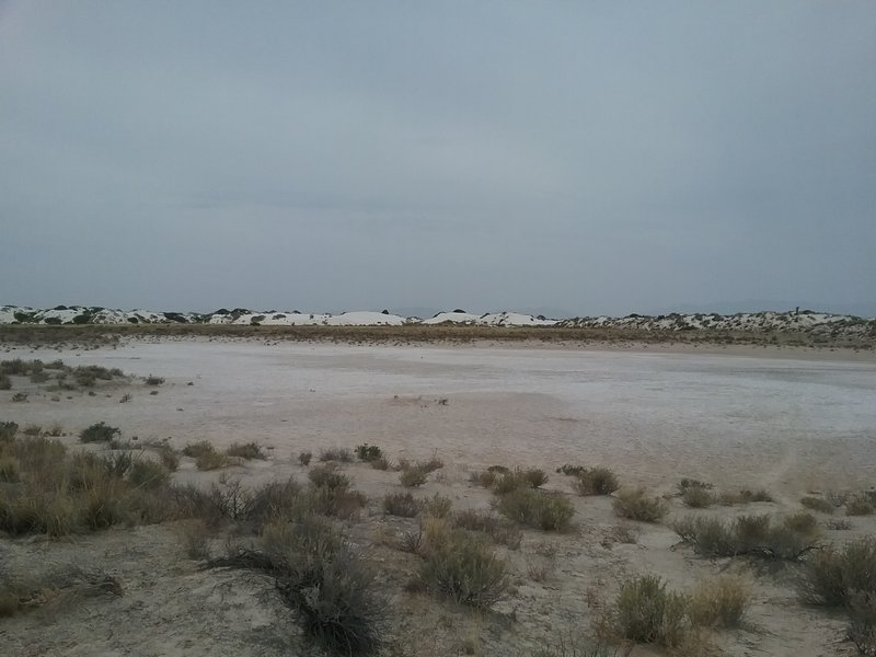 View of the dry lake