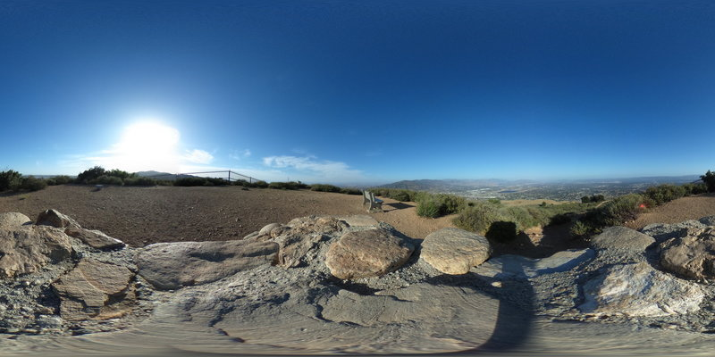 360 degree picture from top of monument