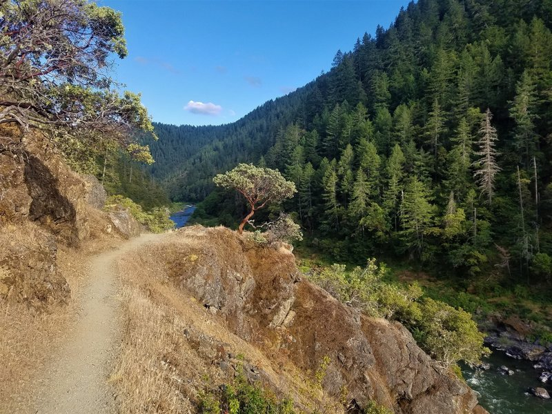 Great river vistas on the Rogue River Trail.