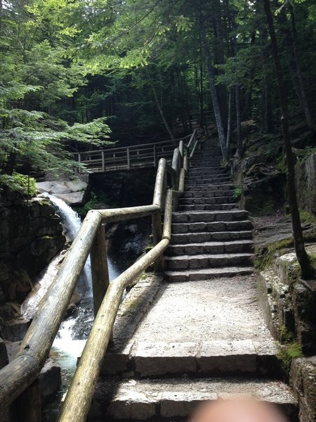 Stairs to top of the falls