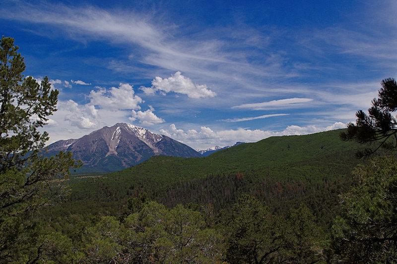 Sopris Peak from the Lorax Trail