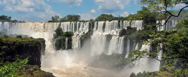 Multi-tiered falls on the Iguazu River