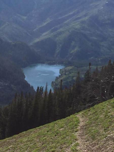 A closer look of Upper Palisades Lake