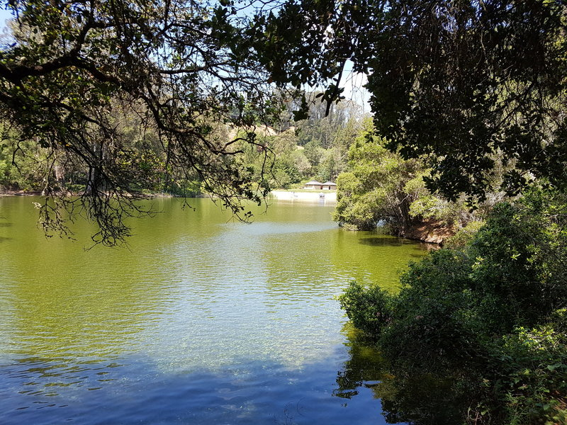 Lake Anza with the beach in the distance