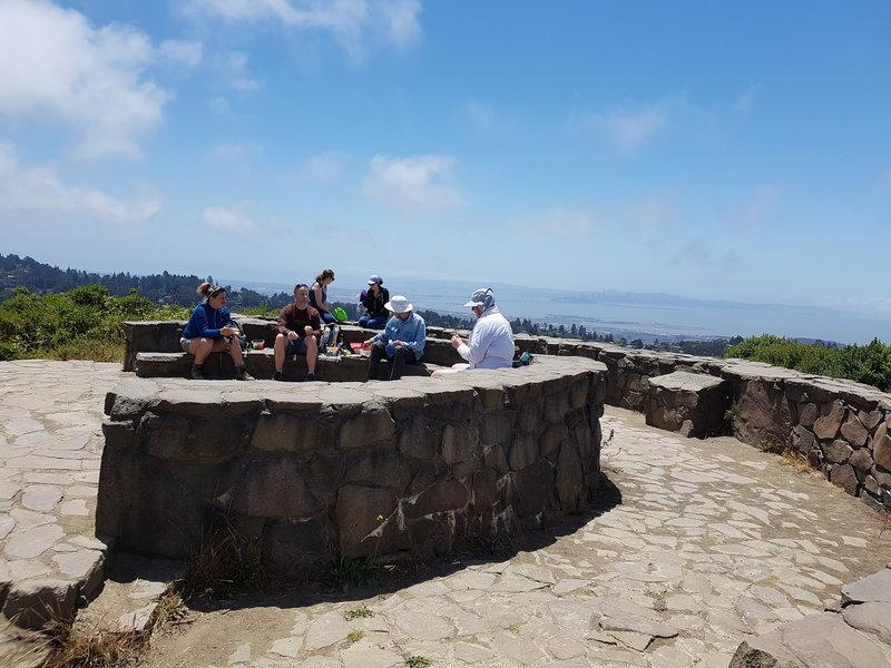 Picnic area at the top of Wilcat Peak. Panaramic views of the Bay and Mt. Diablo.