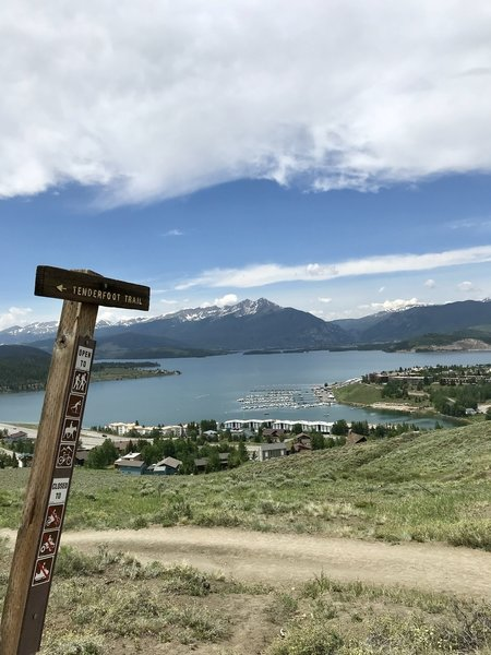 View from the start of Tenderfoot Trail