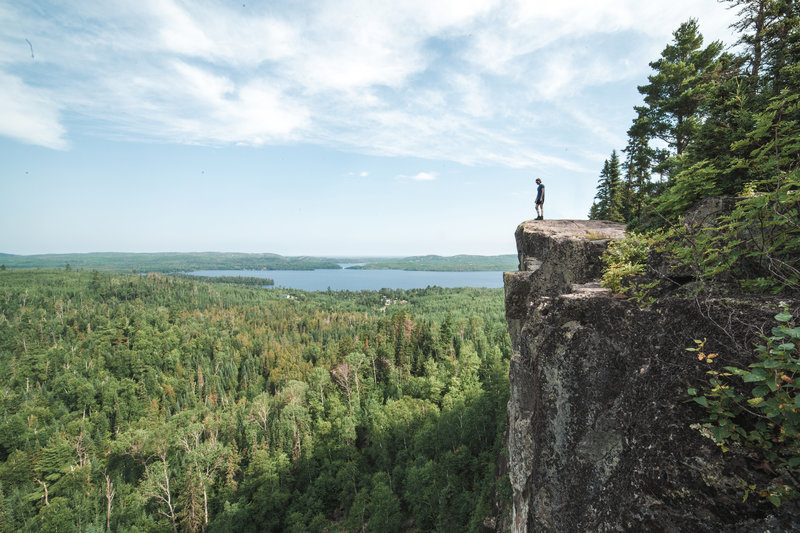 Cliffs south of Gunflint Lake, taken from the Border Route Trail.