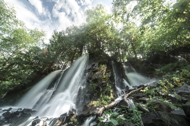 Bridal Falls, accessible via a spur off the Border Route Trail.