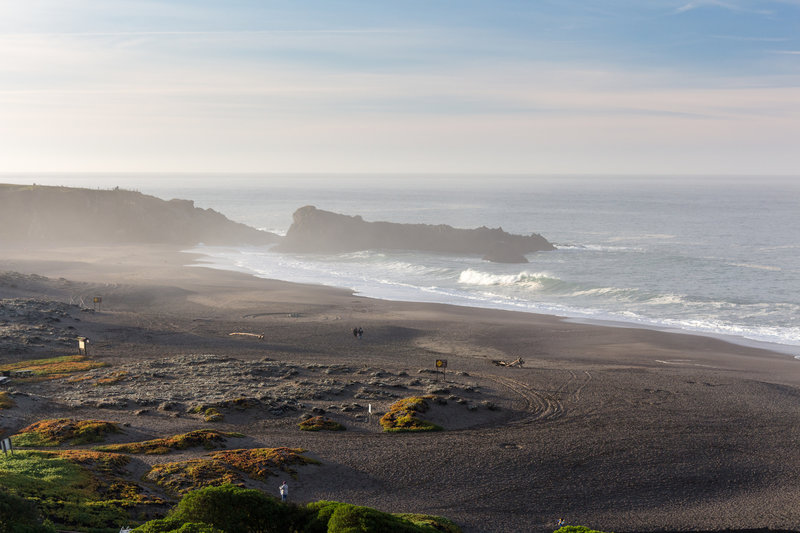Wright's Beach from Kortum Trailhead shortly after sunrise