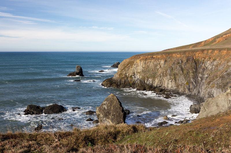 Cliffs within Sonoma Coast State Park