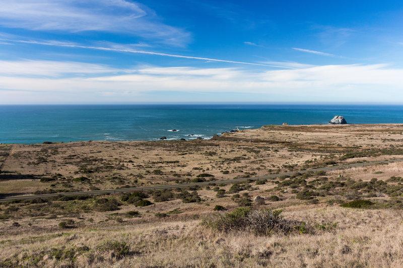 Coastal view from Pomo Canyon Trail