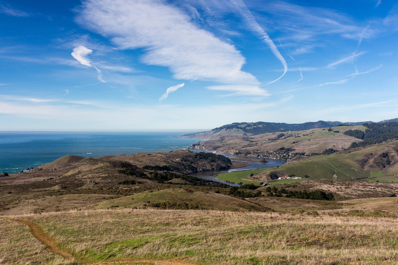 Ocean view from Red Hill towards Jenner and the Russian River