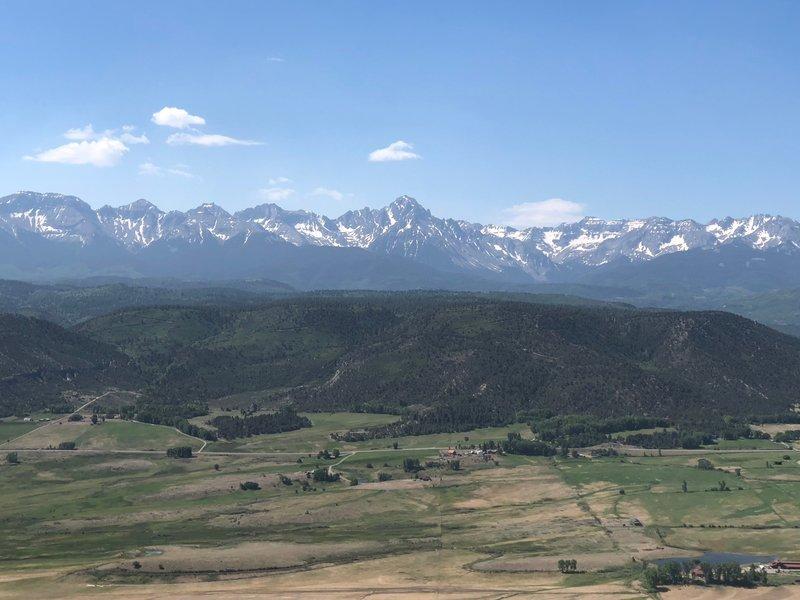 San Juan range with Mt. Sneffels dominating
