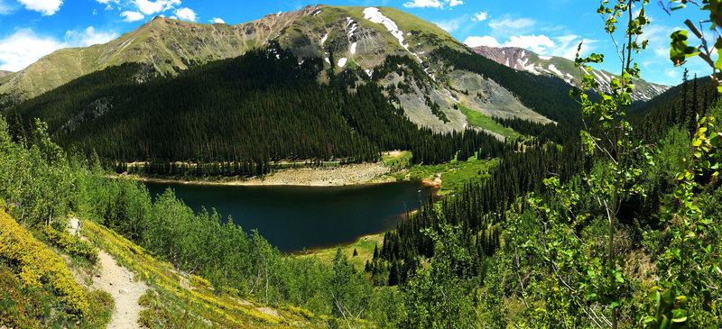 Looking down to Urad Lake