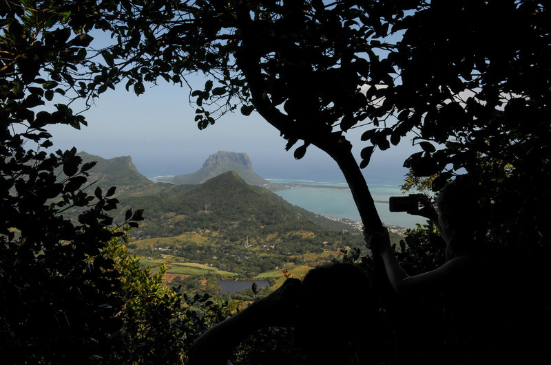 A great view towards Le Morne Brabant from Piton Saint Denis