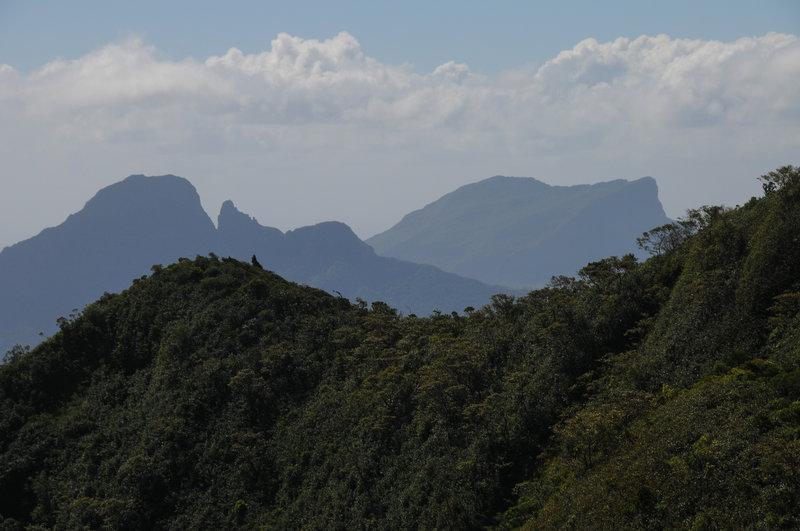 View north towards Mt du Rempart
