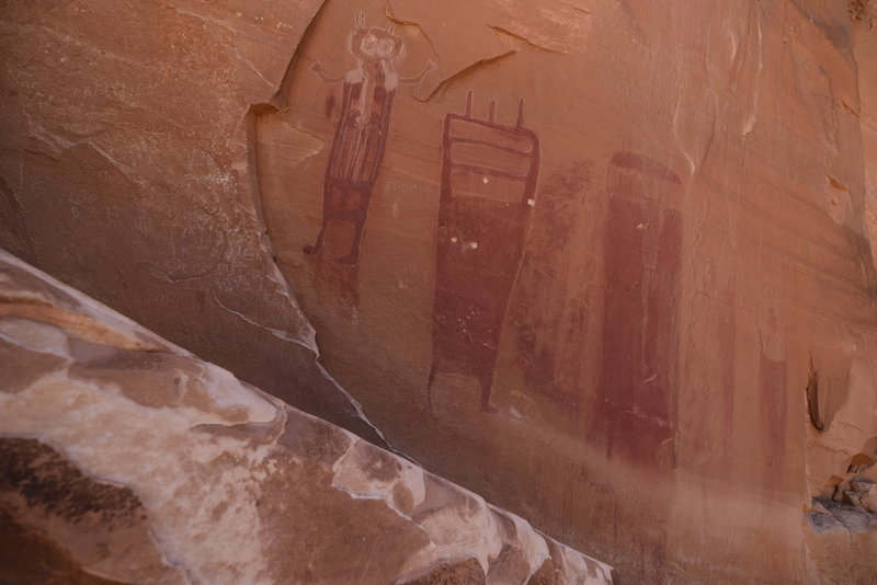 Figures in Black Dragon Canyon