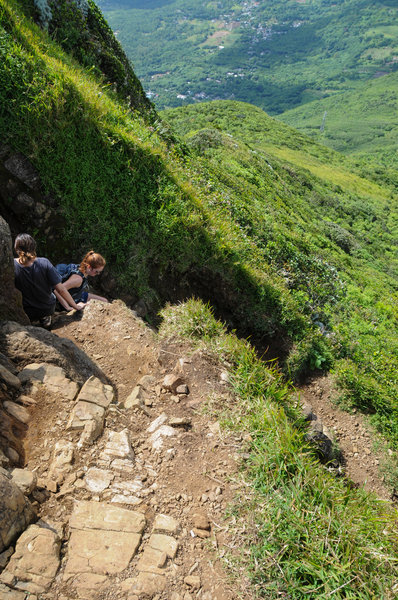 The steep switchbacks on the final ascent can require a little scrambling, but nothing crazy.