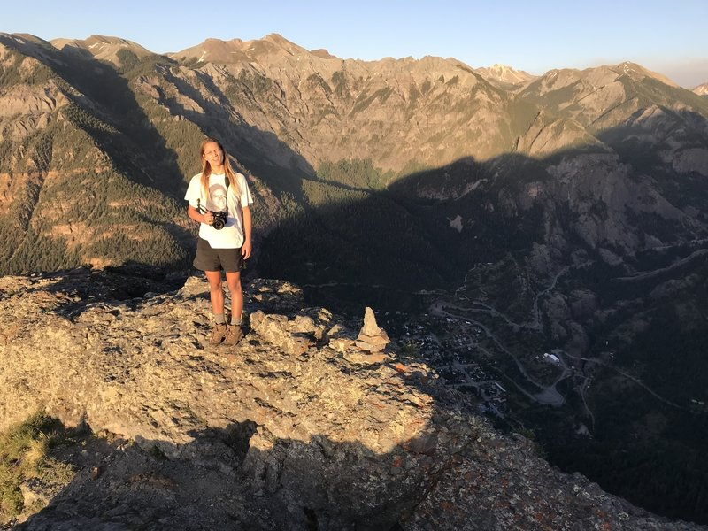 Awesome view from Top of Twin Peaks - Looking down on Ouray