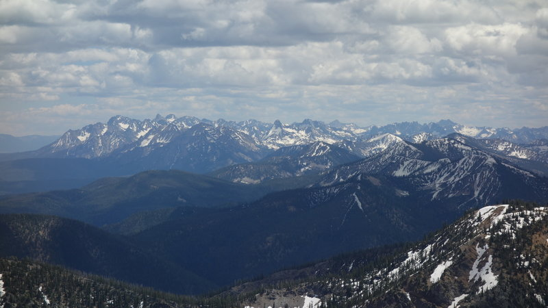 Sawtooth Mountains from the ridge