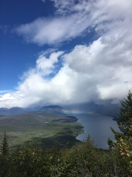 Watched a storm pass over the park and it ended with a rainbow over Lake McDonald.