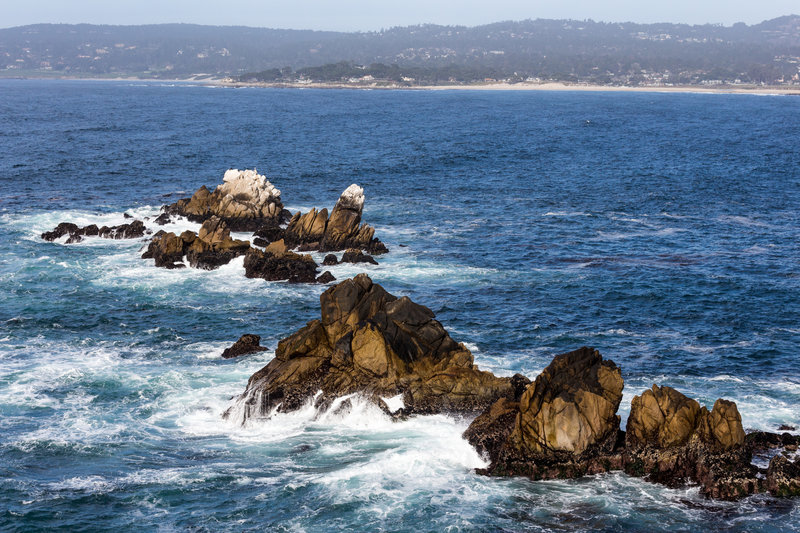Waves breaking at the rocks near Cannery Point