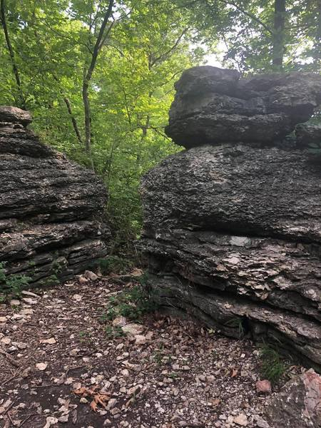 Bluffs along trail.