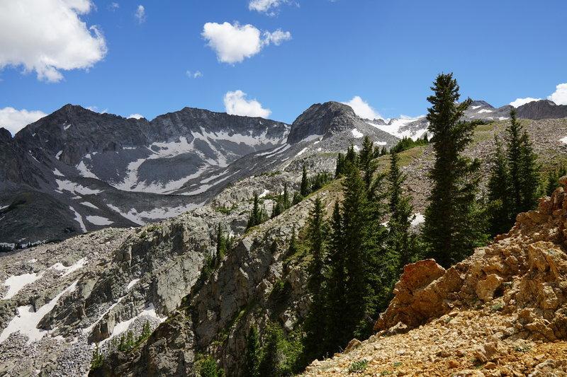 Excellent views of the Elk Range await atop this alpine pass.