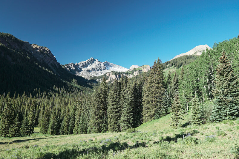 Great views of Mt. Daly along the trail.