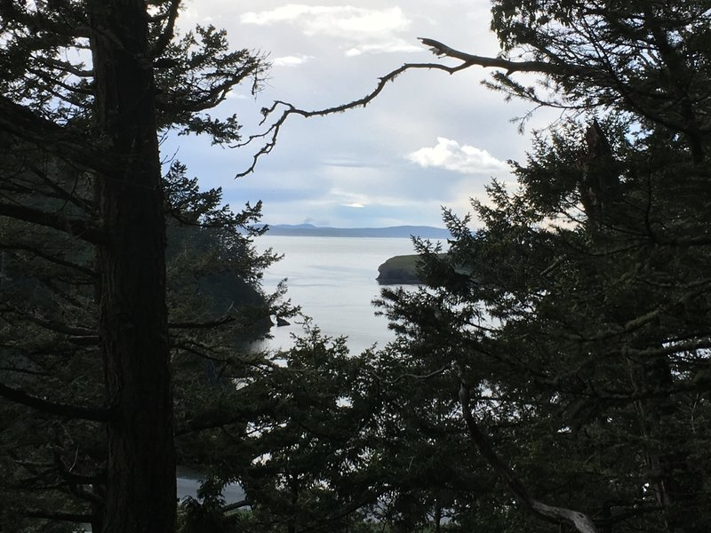 A view of Bowman Bay and Canada from the trail.