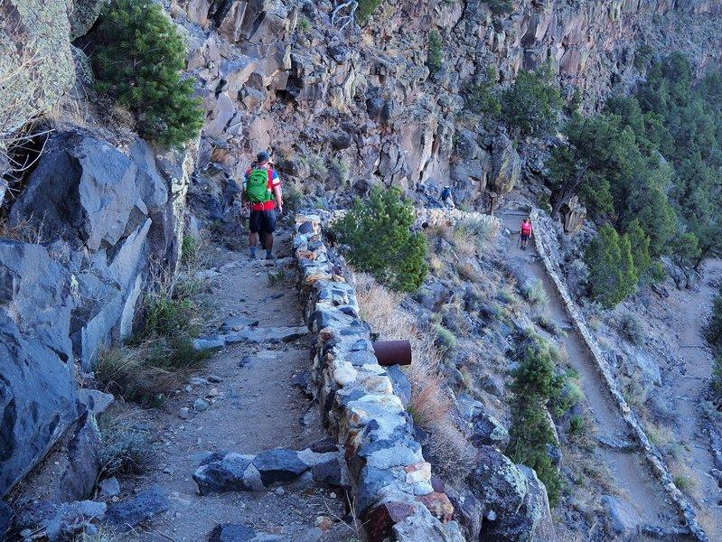 Descending the Big Arsenic Springs Trail