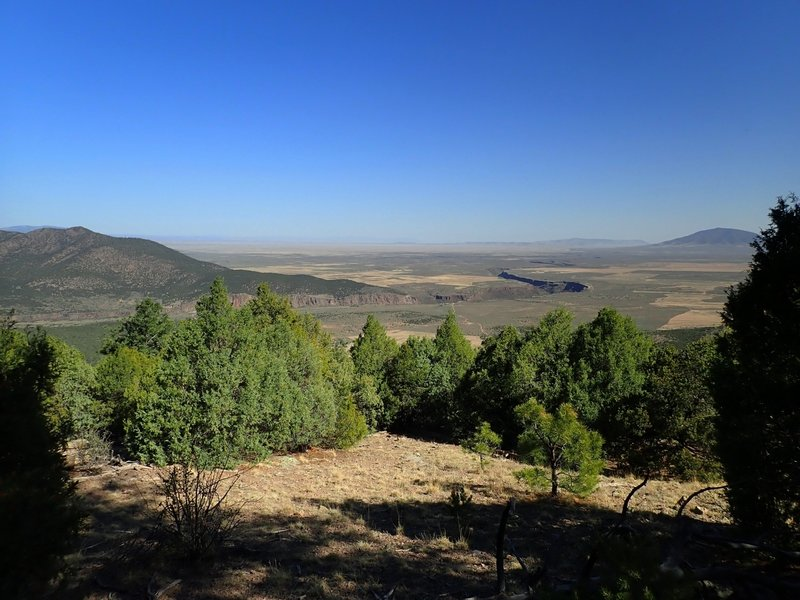 View north from the Wild River Overlook