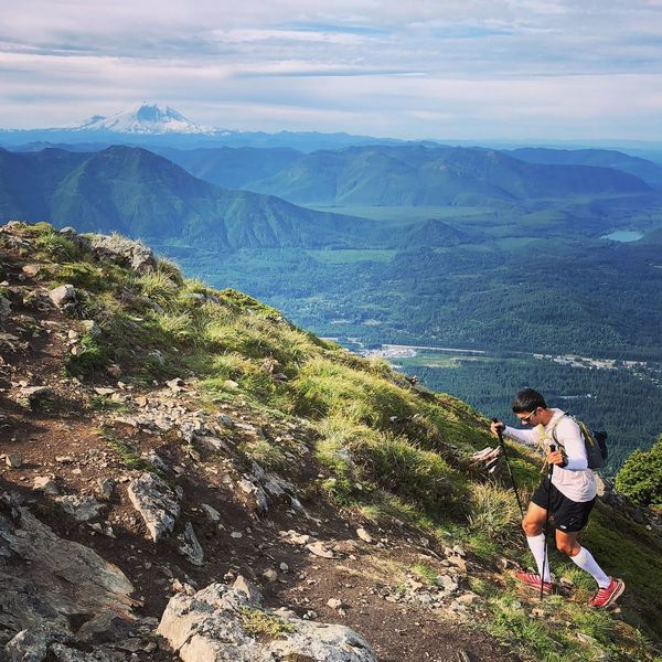 Approaching the summit of Teneriffe... looking back down the Snoqualmie Valley (Photo Credit: Gavin Woody)
