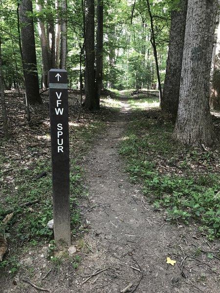 Beginning of VFW Spur