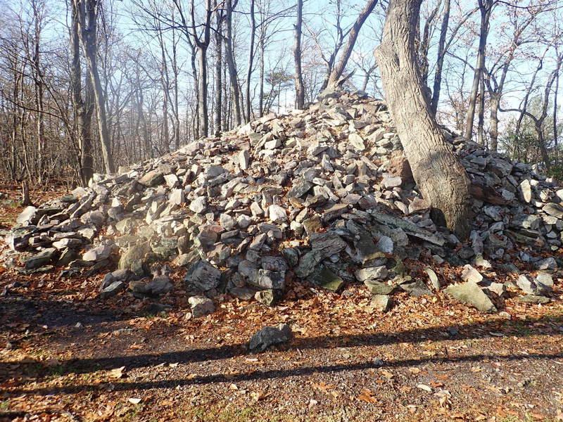 Huge rock carin near the Pinnacle