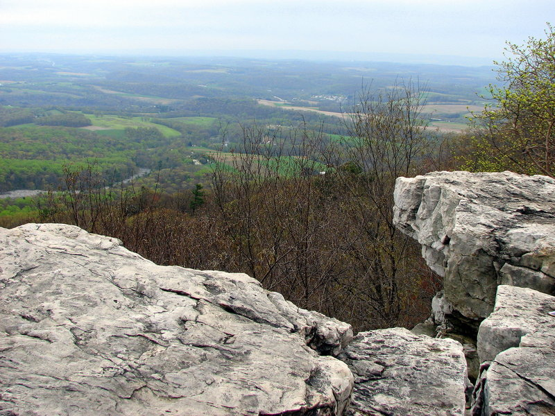 View from Pulpit Rocks. Looking south (April).