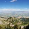 View of Cache Valley on the narrow switchbacks